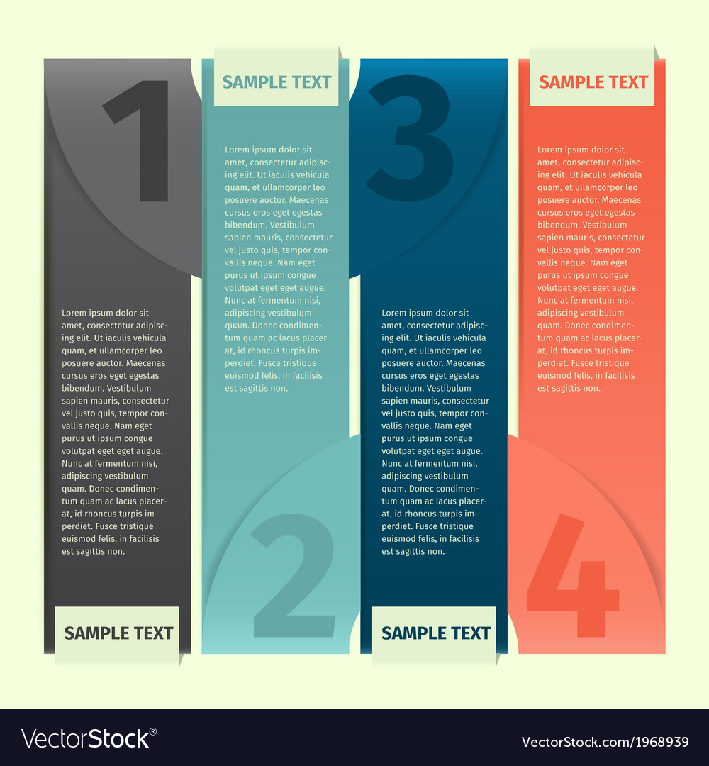 Infographics design template banner vector | Price: 1 Credit (USD $1)