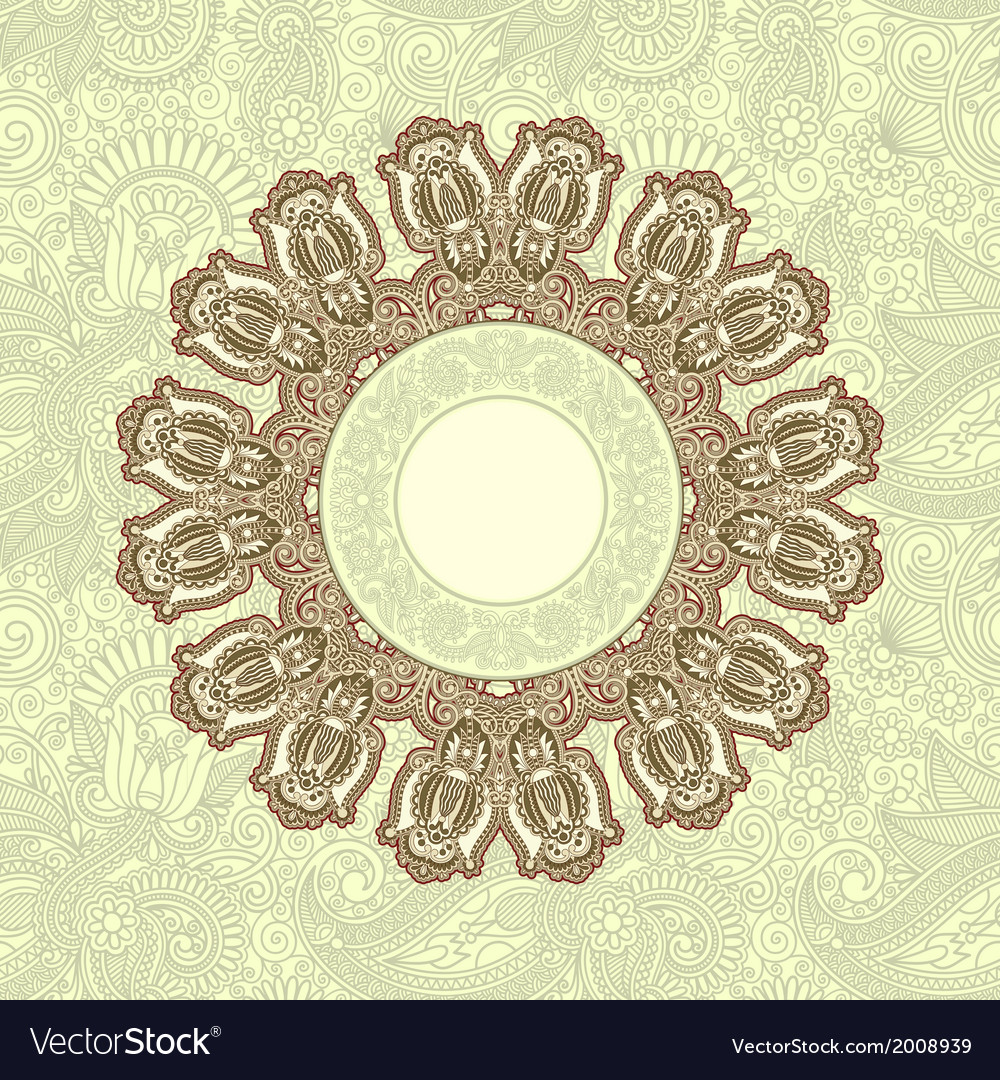 Ornamental template with floral background vector | Price: 1 Credit (USD $1)