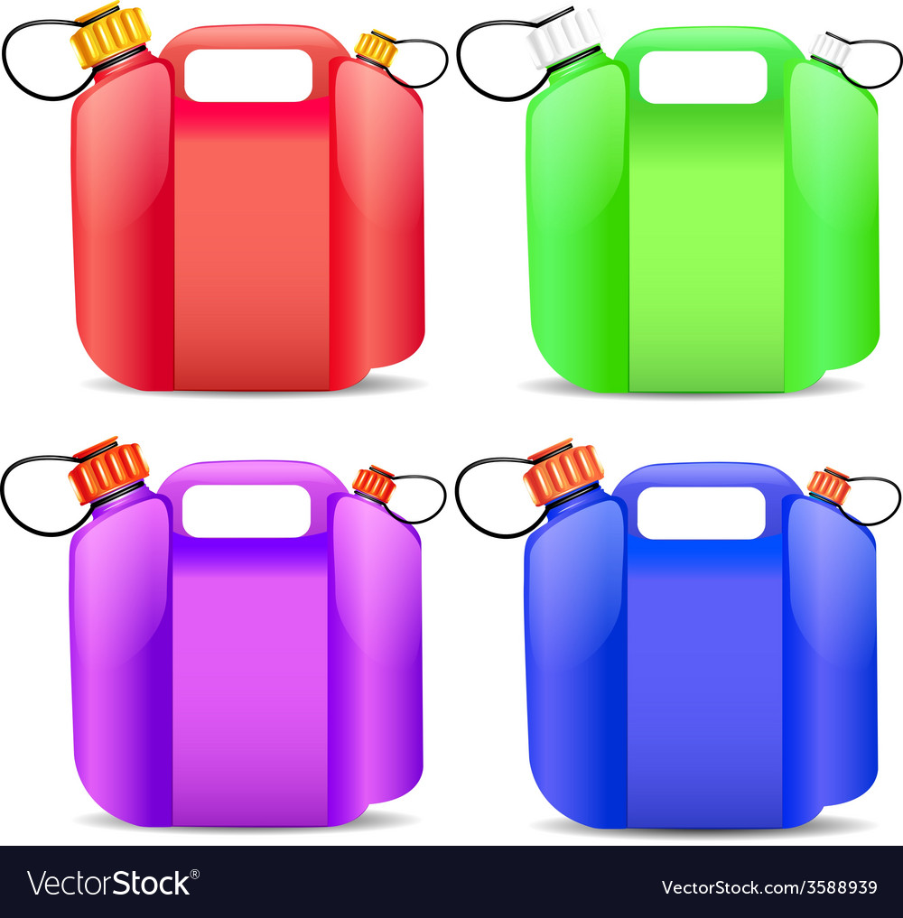 Plastic gasoline container vector | Price: 1 Credit (USD $1)