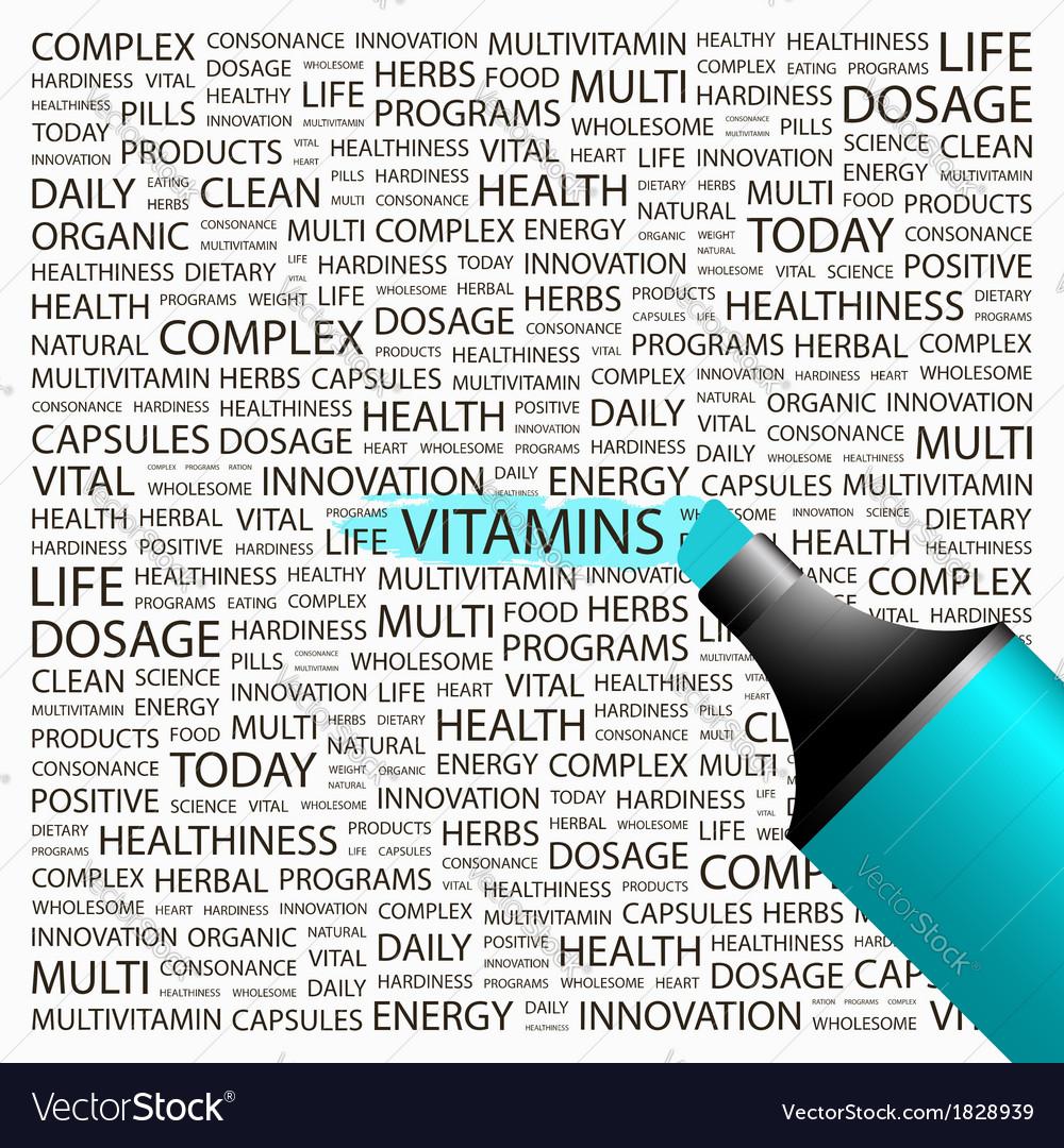Vitamins vector   Price: 1 Credit (USD $1)