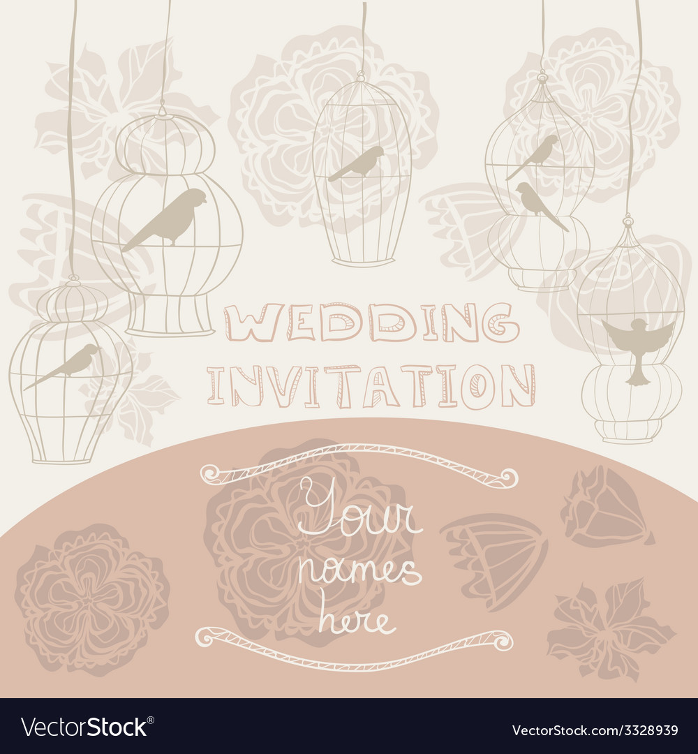 Weddinginvitationcages vector | Price: 1 Credit (USD $1)