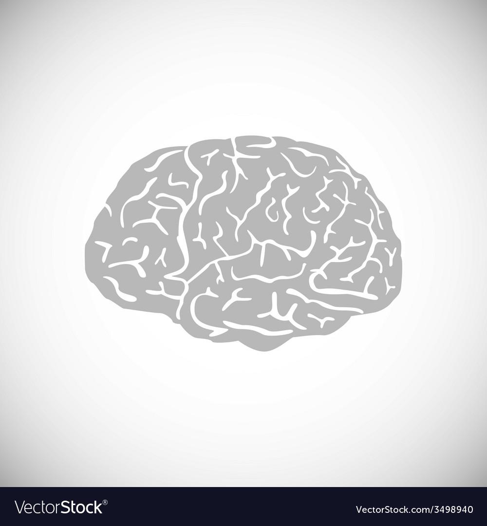 Brain  human symbol medicine think icon vector | Price: 1 Credit (USD $1)