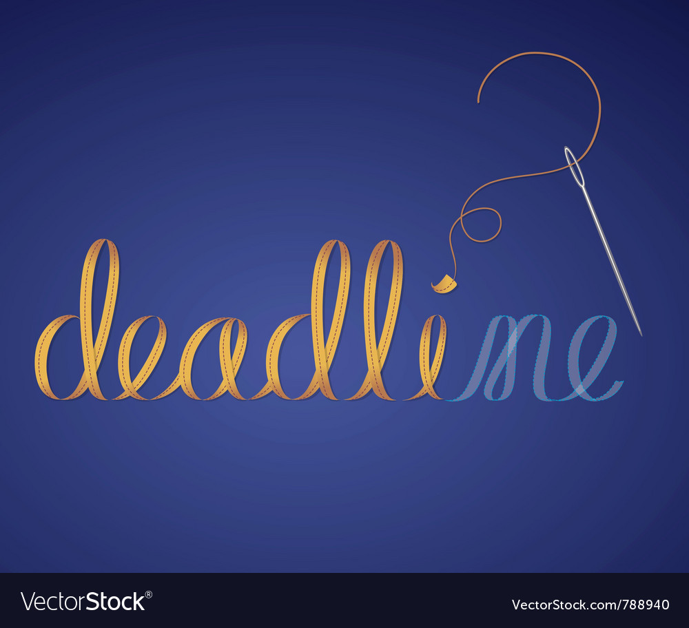 Deadline vector | Price: 1 Credit (USD $1)
