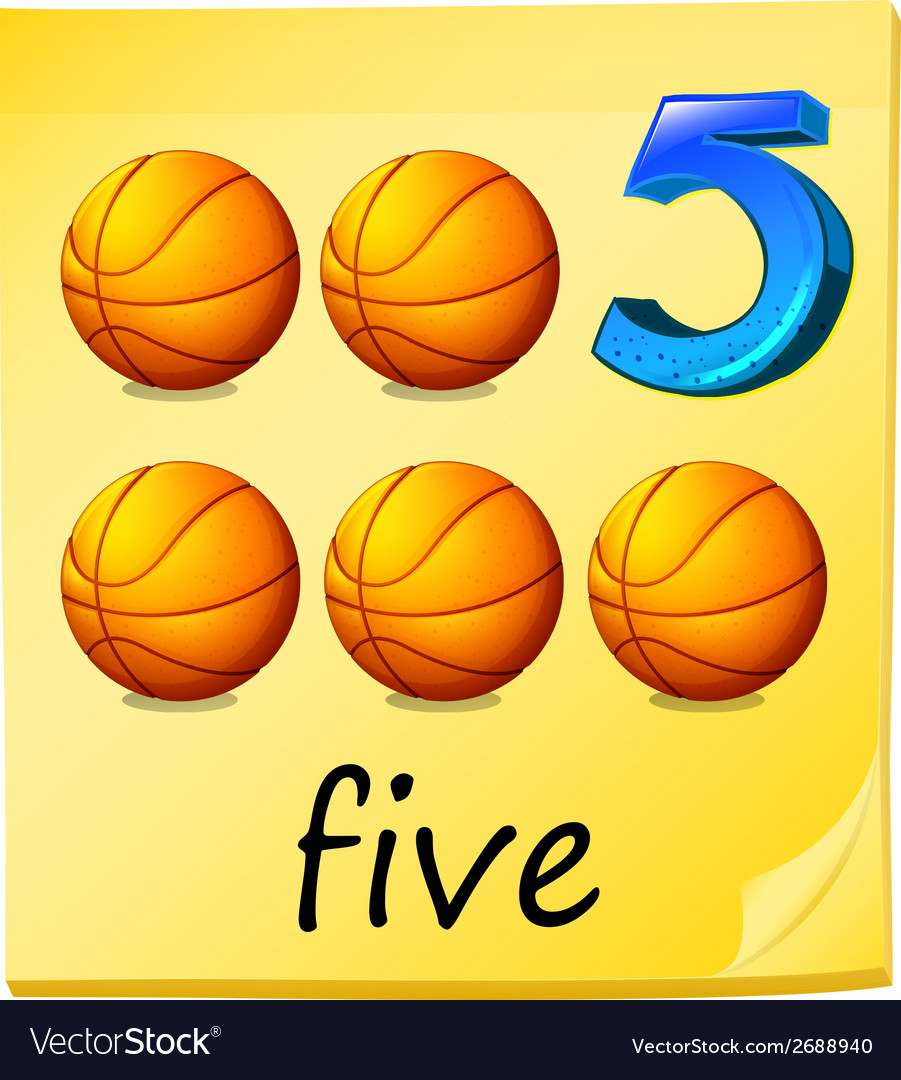 Five balls vector | Price: 1 Credit (USD $1)