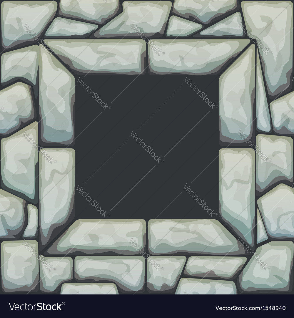 Frame on grey stone seamless pattern vector | Price: 1 Credit (USD $1)