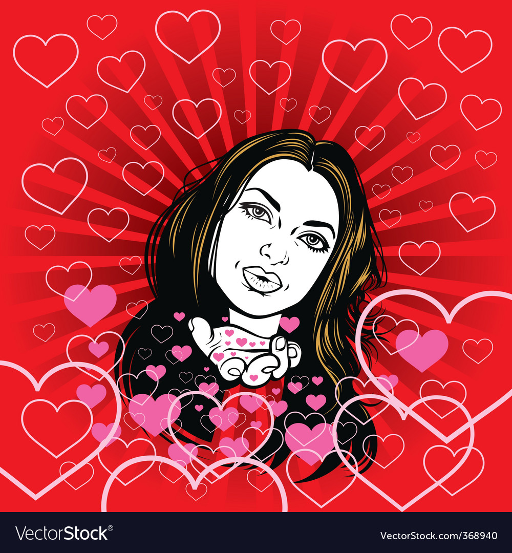 Girl in love vector | Price: 3 Credit (USD $3)