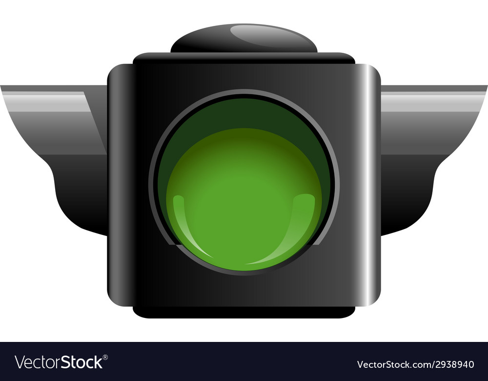 Green traffic light vector | Price: 1 Credit (USD $1)