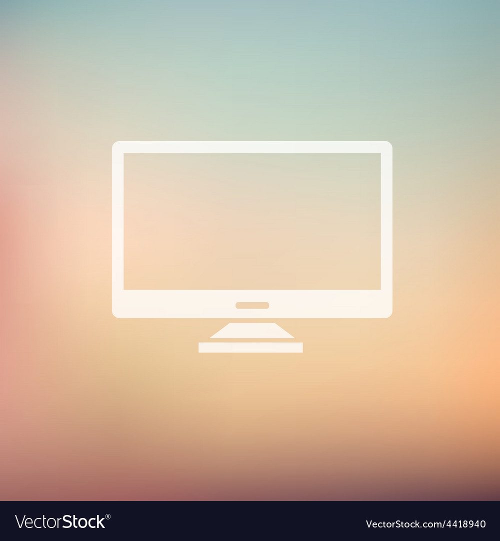 Monitor in flat style icon vector | Price: 1 Credit (USD $1)