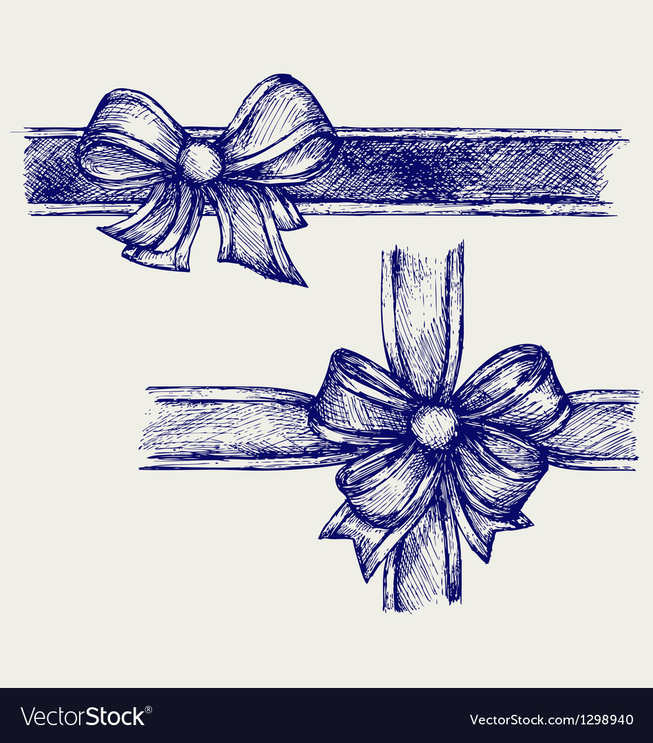 Ribbon with bow vector | Price: 1 Credit (USD $1)