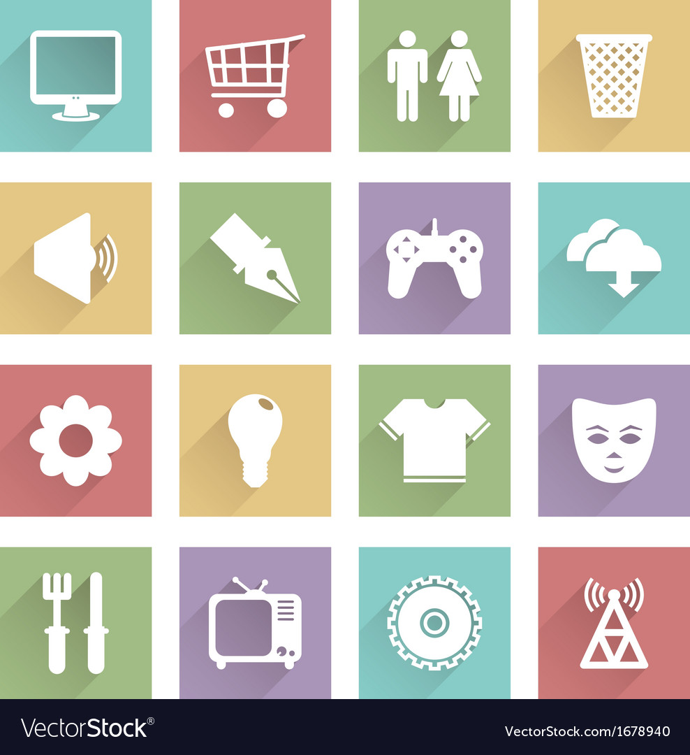 Soft media icons set 2 vector | Price: 1 Credit (USD $1)
