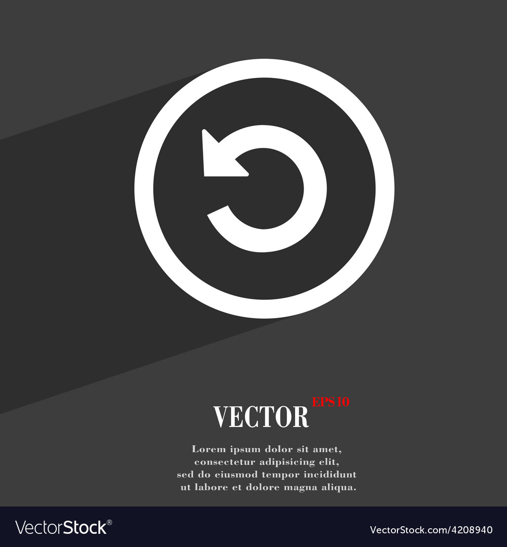 Upgrade arrow update icon symbol flat modern web vector | Price: 1 Credit (USD $1)