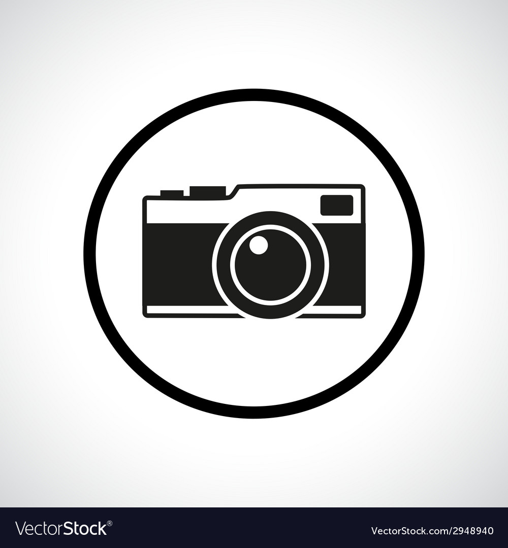 Vintage photo camera in a circle vector | Price: 1 Credit (USD $1)