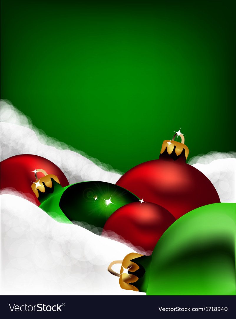 Xmas greeting card christmas red and green toys vector | Price: 1 Credit (USD $1)