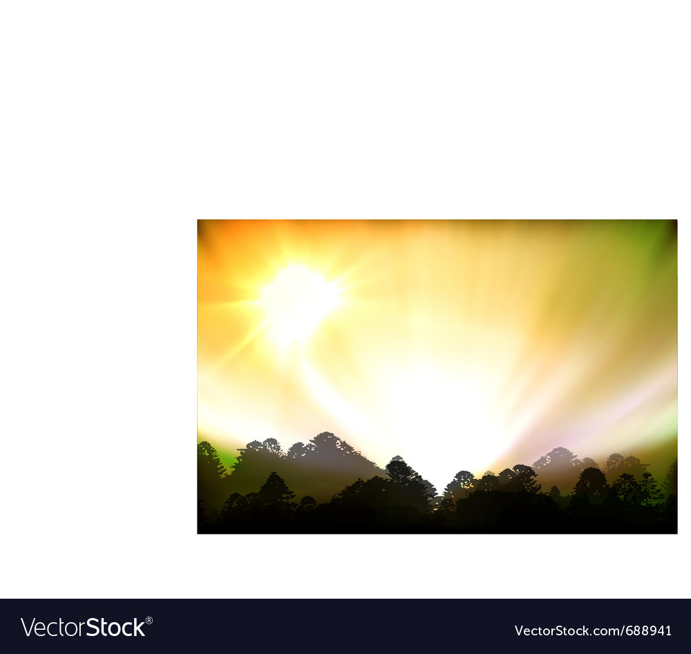 Aurora polaris vector | Price: 1 Credit (USD $1)