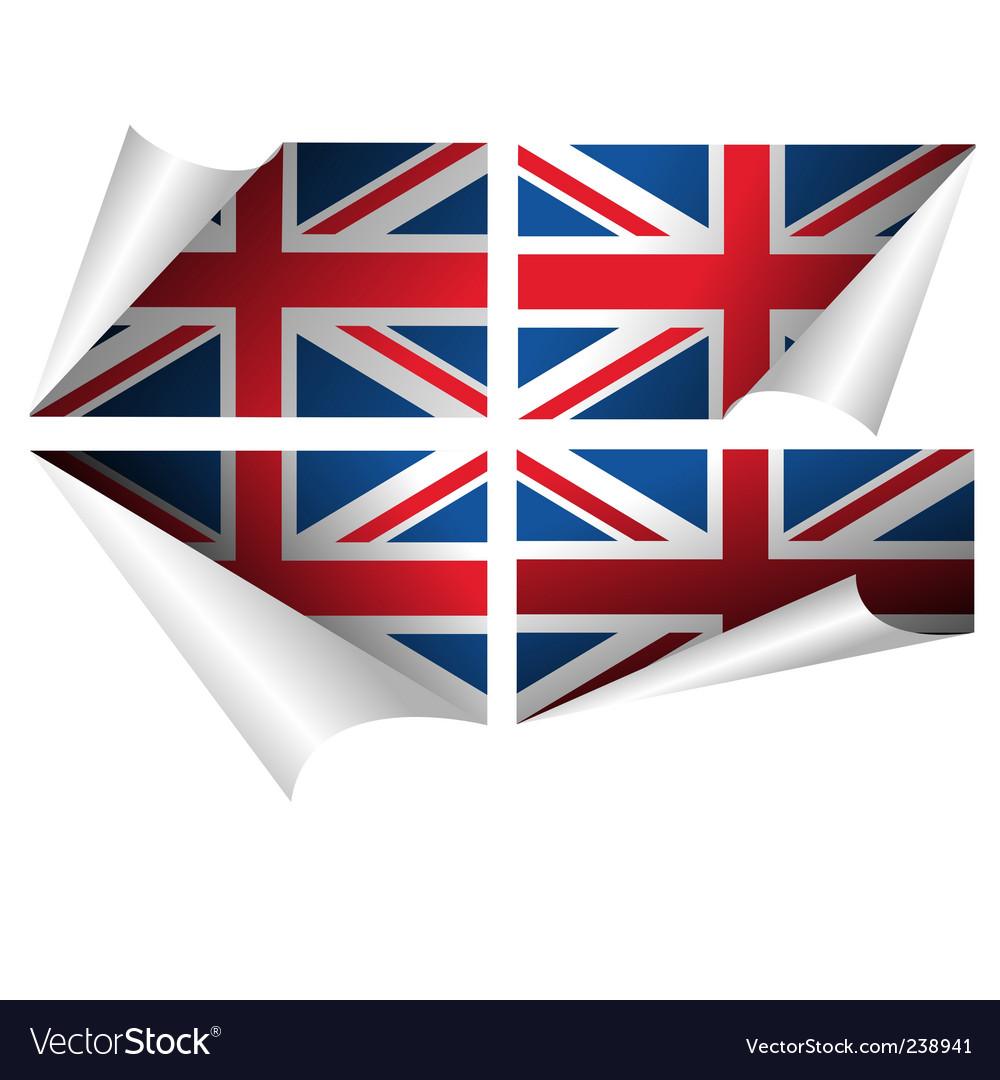British flag vector | Price: 1 Credit (USD $1)