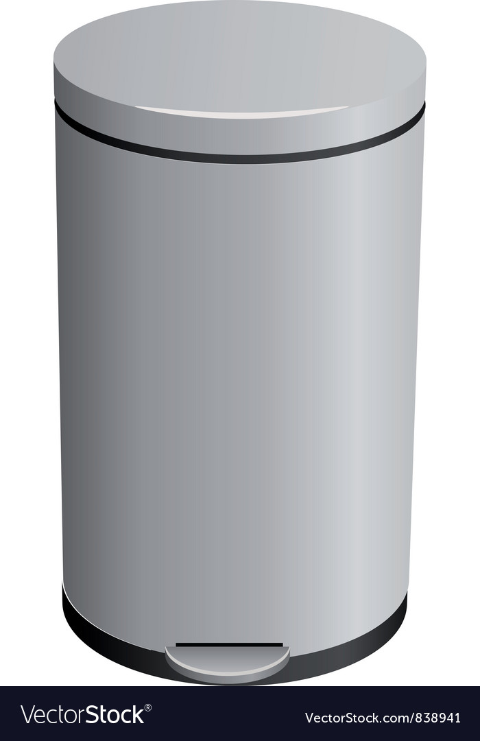 Closed trash can vector | Price: 1 Credit (USD $1)