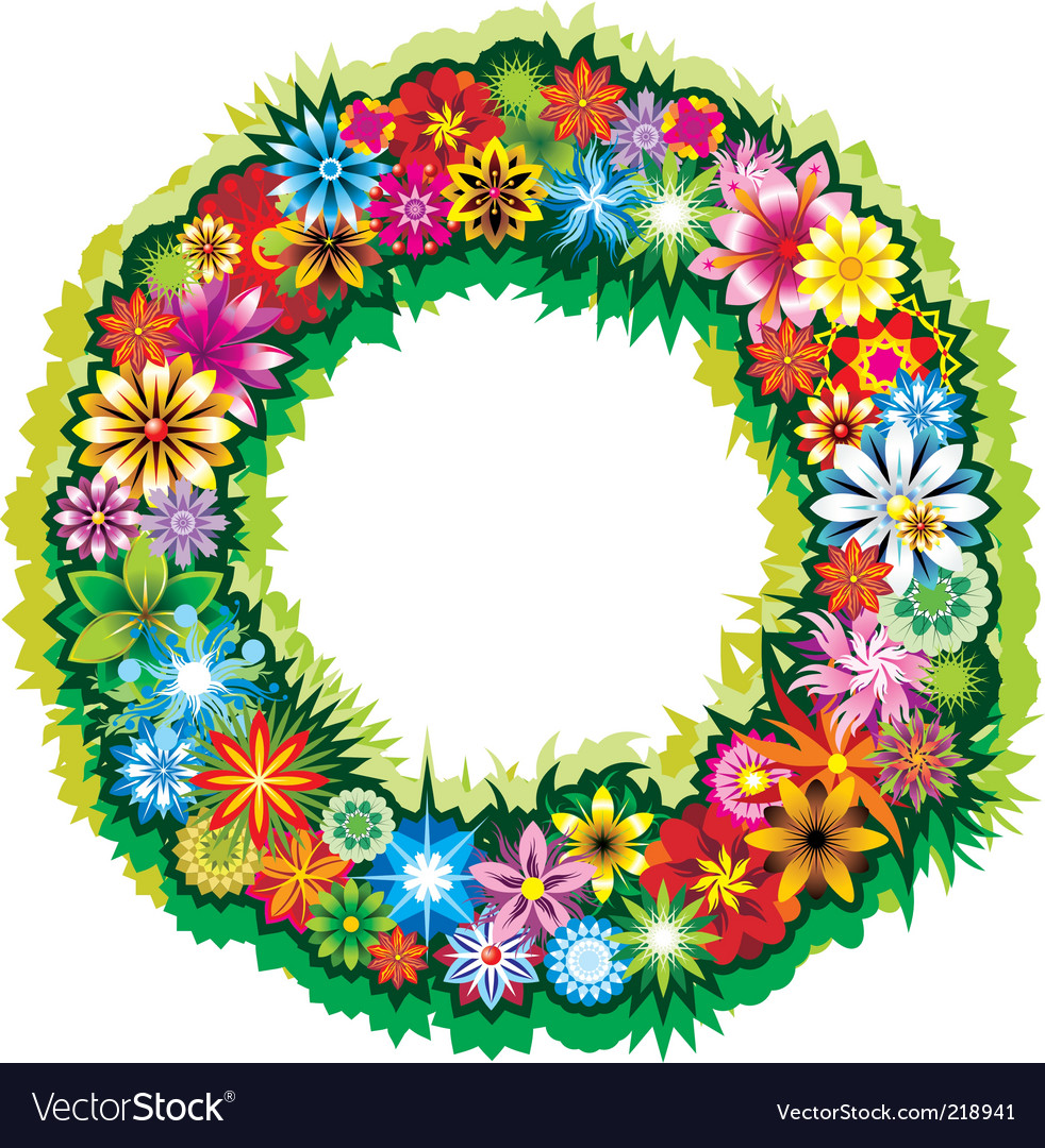 Flower wreath vector | Price: 3 Credit (USD $3)
