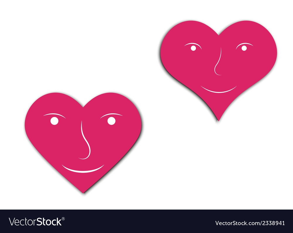 Hearts with face vector | Price: 1 Credit (USD $1)