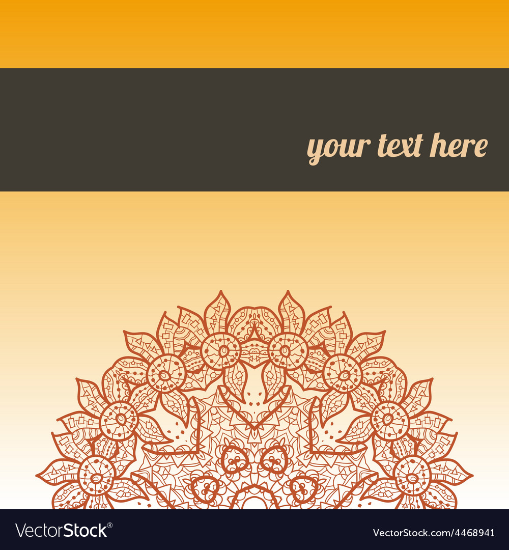 Ornate frame with sample text orange vector | Price: 1 Credit (USD $1)