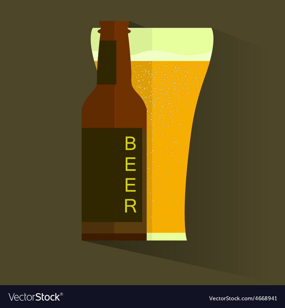 Retro beer poster label or banner vector | Price: 1 Credit (USD $1)