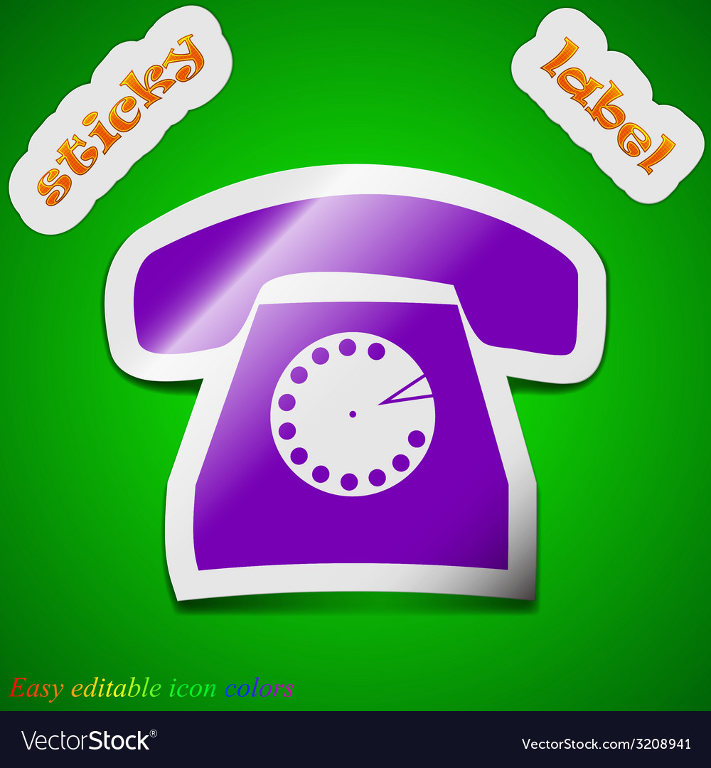 Retro telephone icon sign symbol chic colored vector | Price: 1 Credit (USD $1)