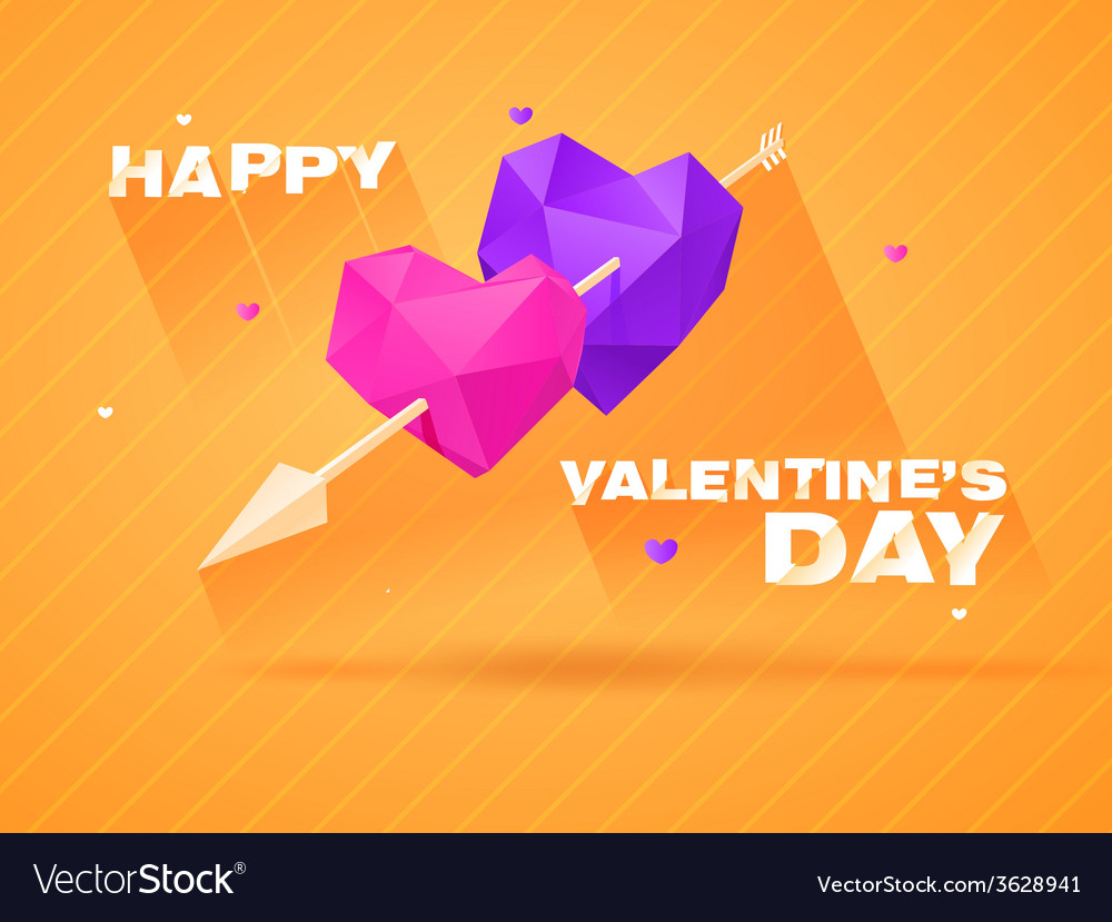 Romantic background for valentines day vector | Price: 1 Credit (USD $1)
