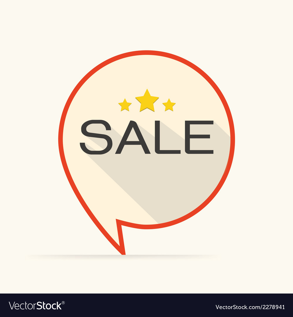 Sale flat design icon for business vector   Price: 1 Credit (USD $1)