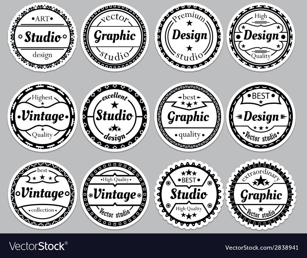 Set nice old fashioned icon vector | Price: 1 Credit (USD $1)