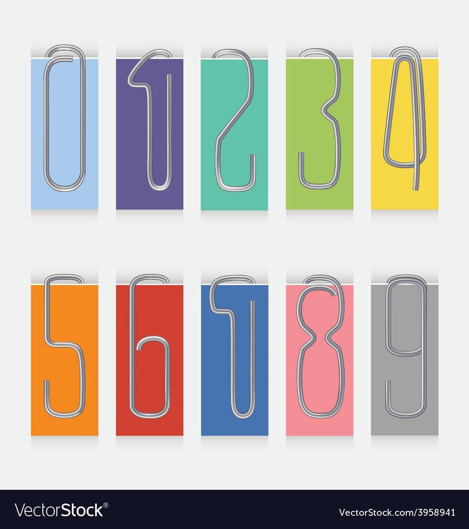 Set of metal paper clips vector | Price: 1 Credit (USD $1)
