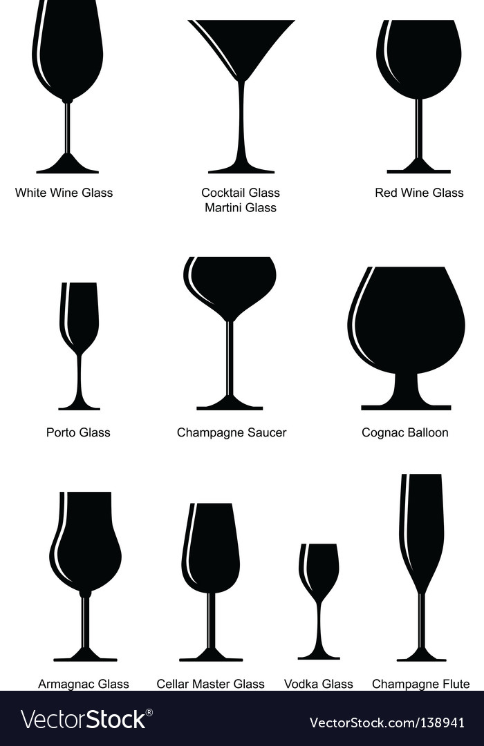 Silhouette alcoholic glass vector | Price: 1 Credit (USD $1)