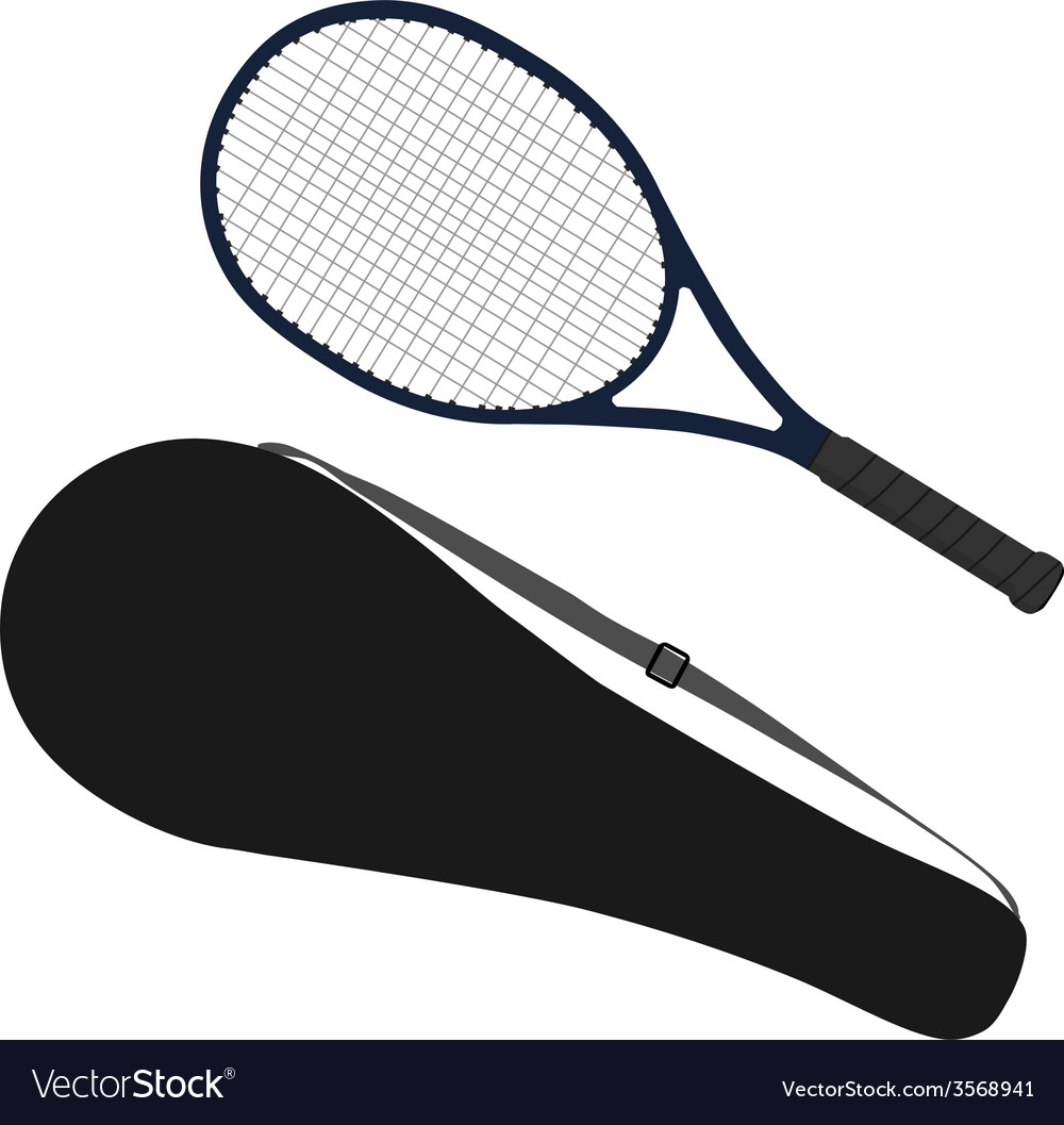 Tennis racket racket cover vector | Price: 1 Credit (USD $1)
