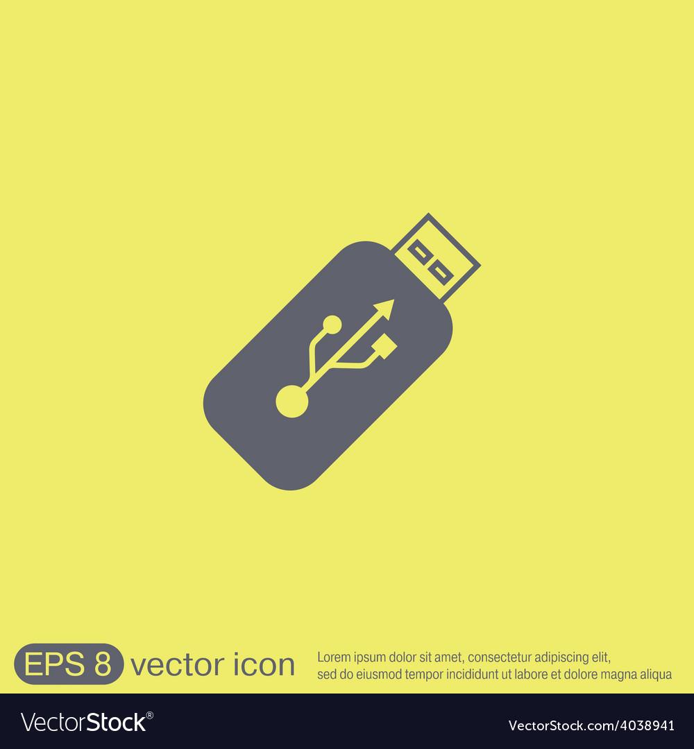 Usb flash icon disk vector | Price: 1 Credit (USD $1)