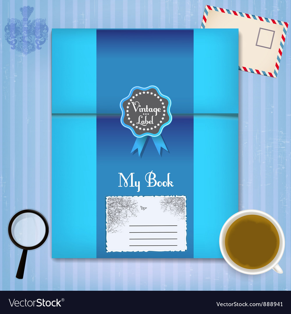 Vintage book vector | Price: 1 Credit (USD $1)