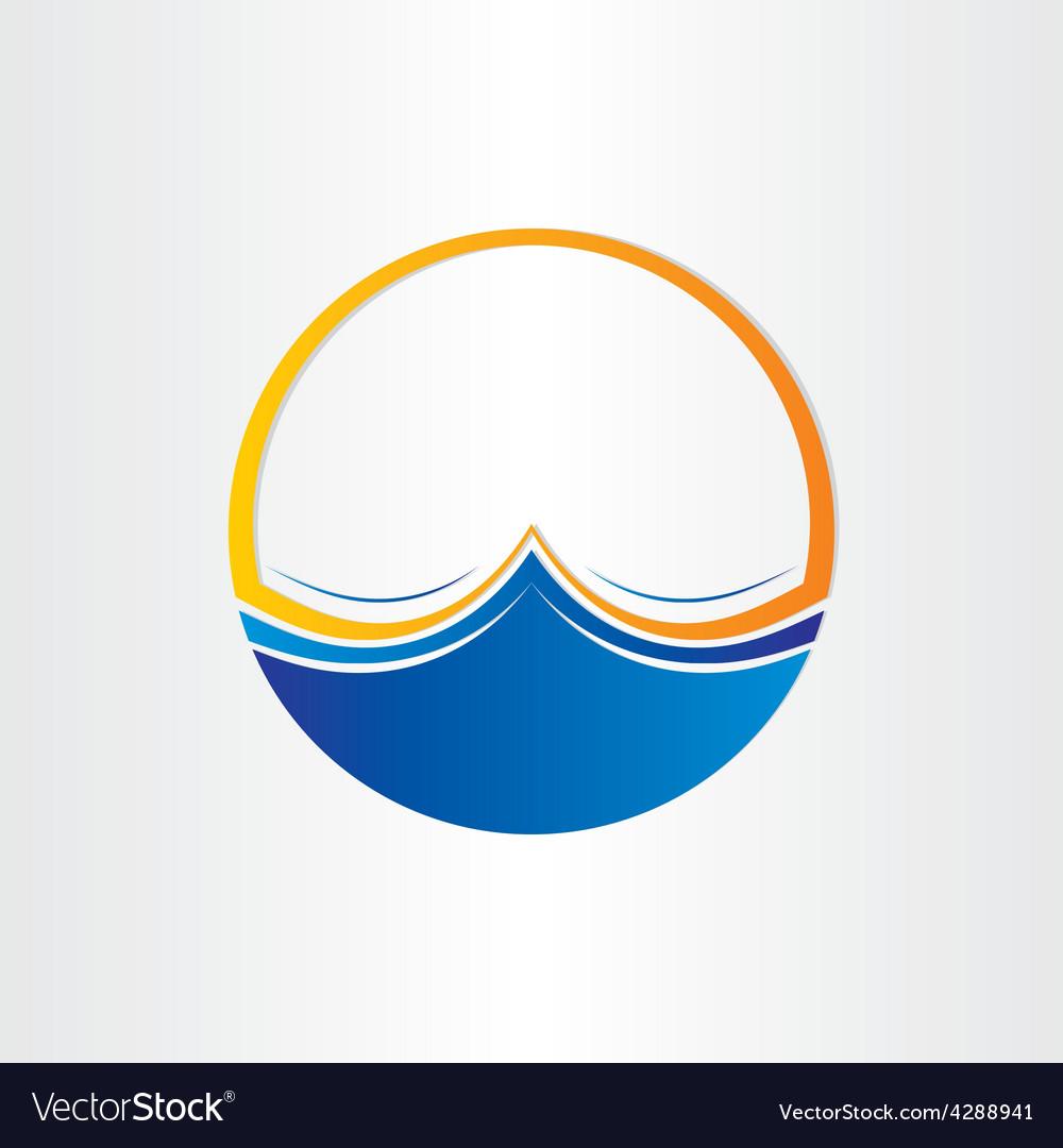 Water waves symbol design element vector   Price: 1 Credit (USD $1)