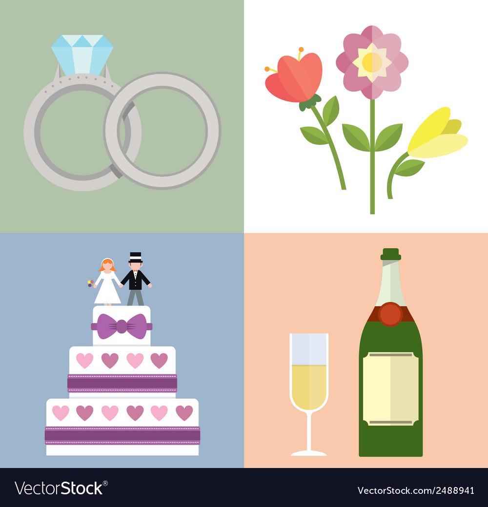 Wedding accessories set i vector | Price: 1 Credit (USD $1)