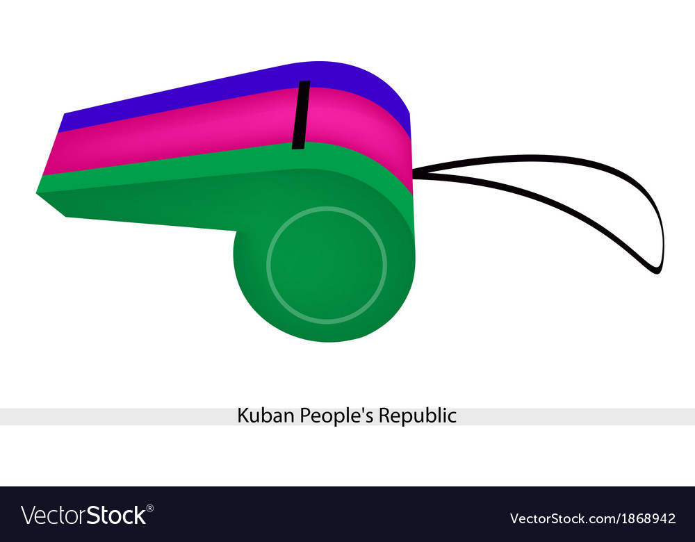 A whistle of the kuban peoples republic vector | Price: 1 Credit (USD $1)