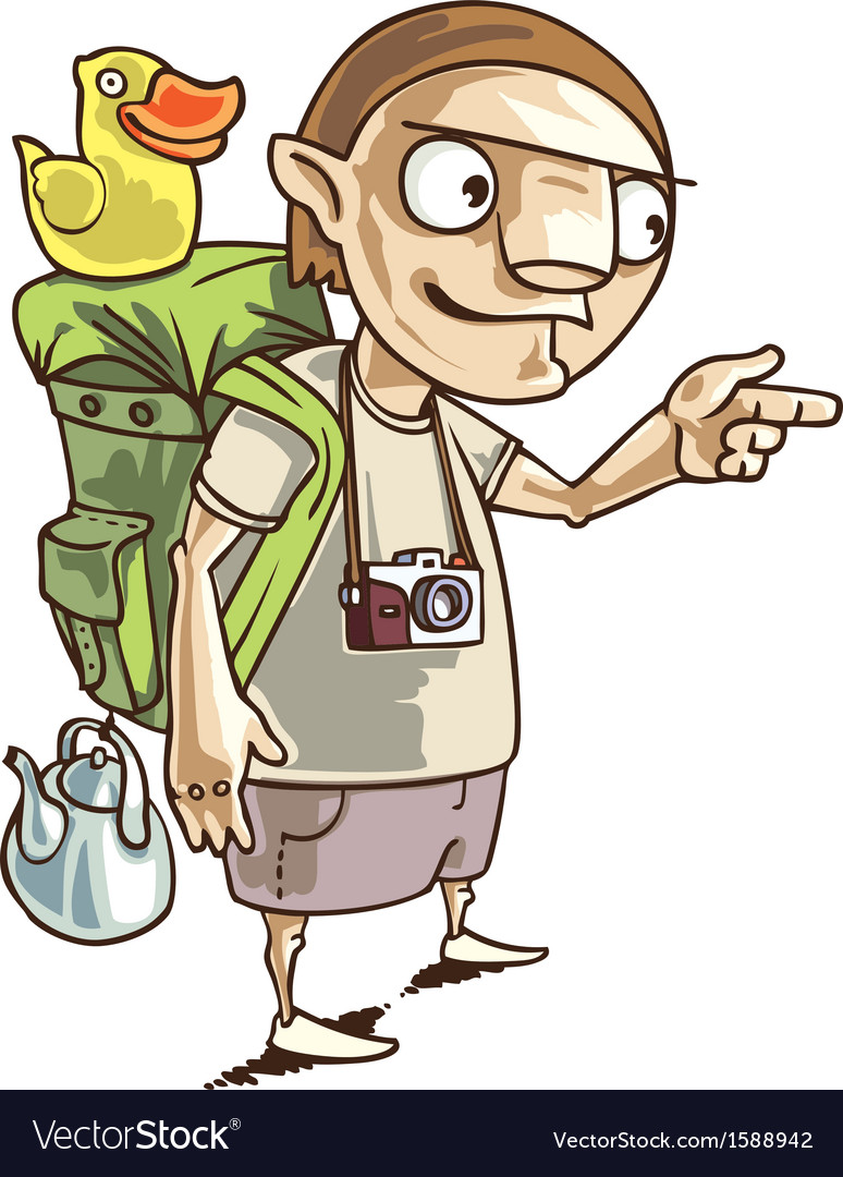 Backpacker vector | Price: 3 Credit (USD $3)