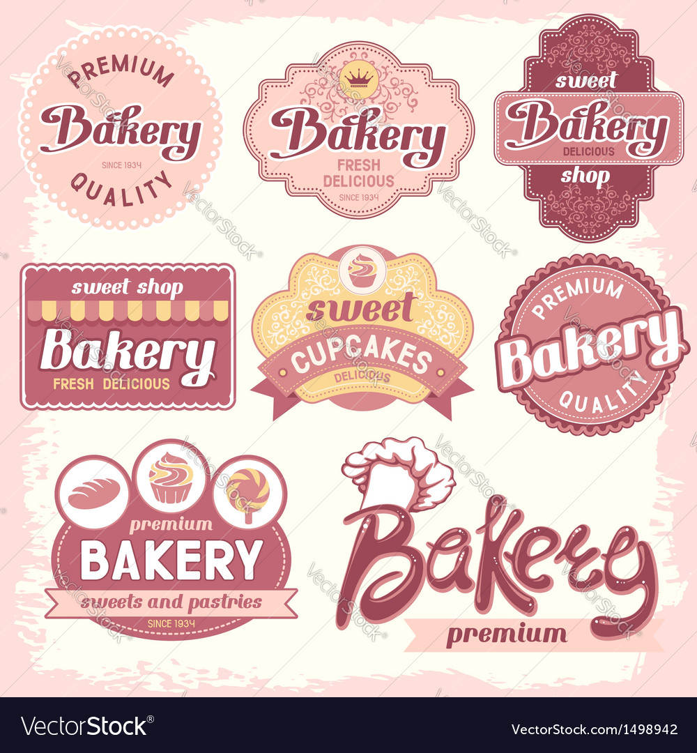 Bakery label vector | Price: 3 Credit (USD $3)