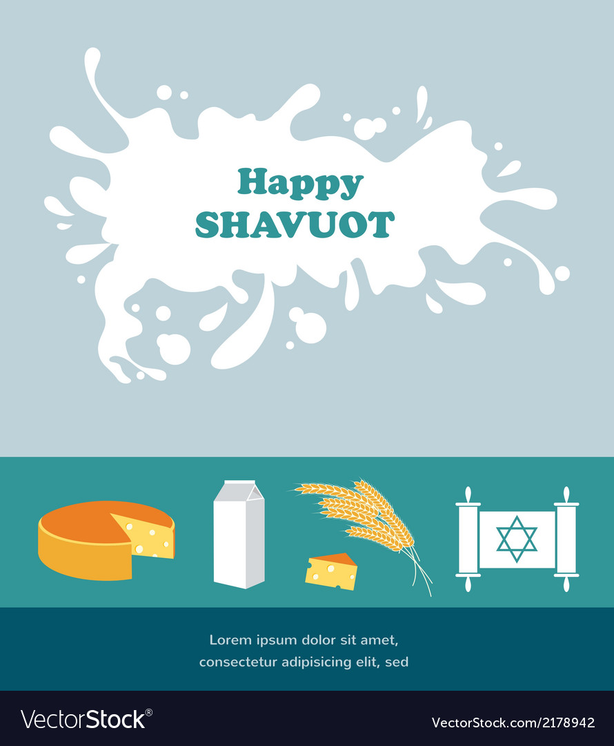 Card for shavuot jewish holiday with a splash of vector | Price: 1 Credit (USD $1)
