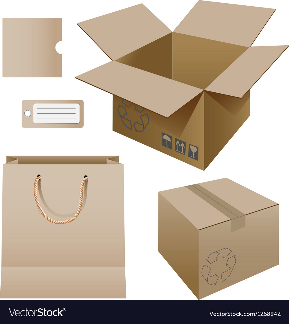 Cardboard products vector | Price: 1 Credit (USD $1)