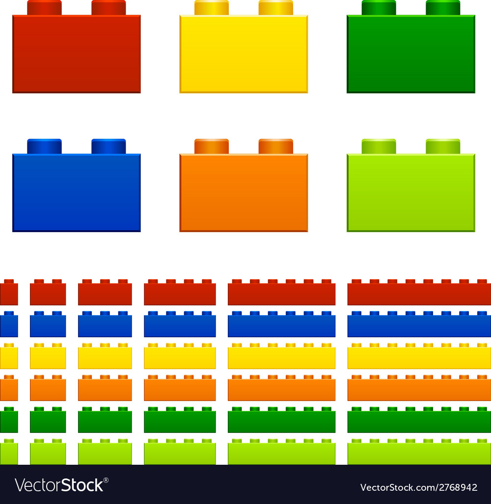 Children plastic bricks toy vector | Price: 1 Credit (USD $1)