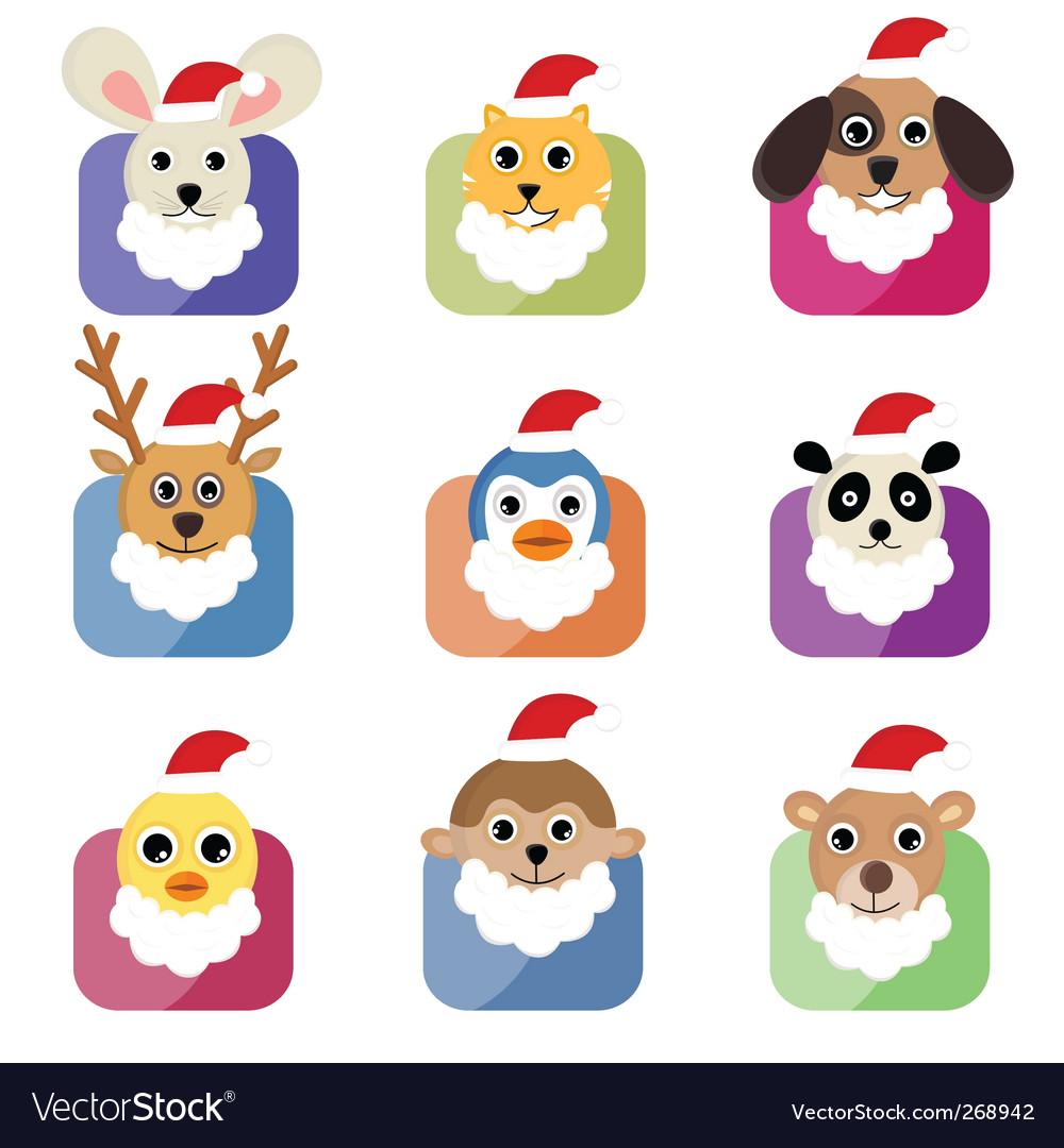 Christmas animals vector | Price: 1 Credit (USD $1)