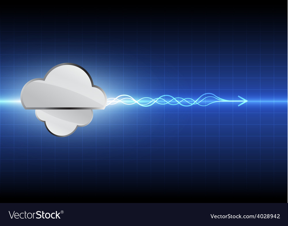 Cloud computing technology background vector | Price: 1 Credit (USD $1)