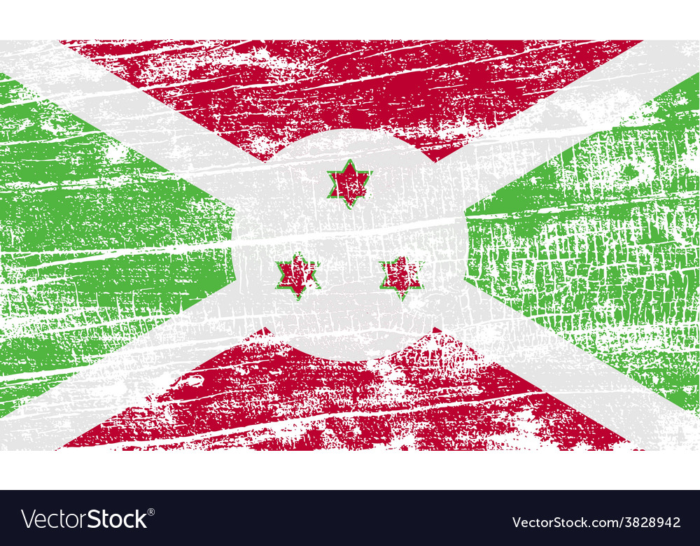 Flag of burundi with old texture vector | Price: 1 Credit (USD $1)
