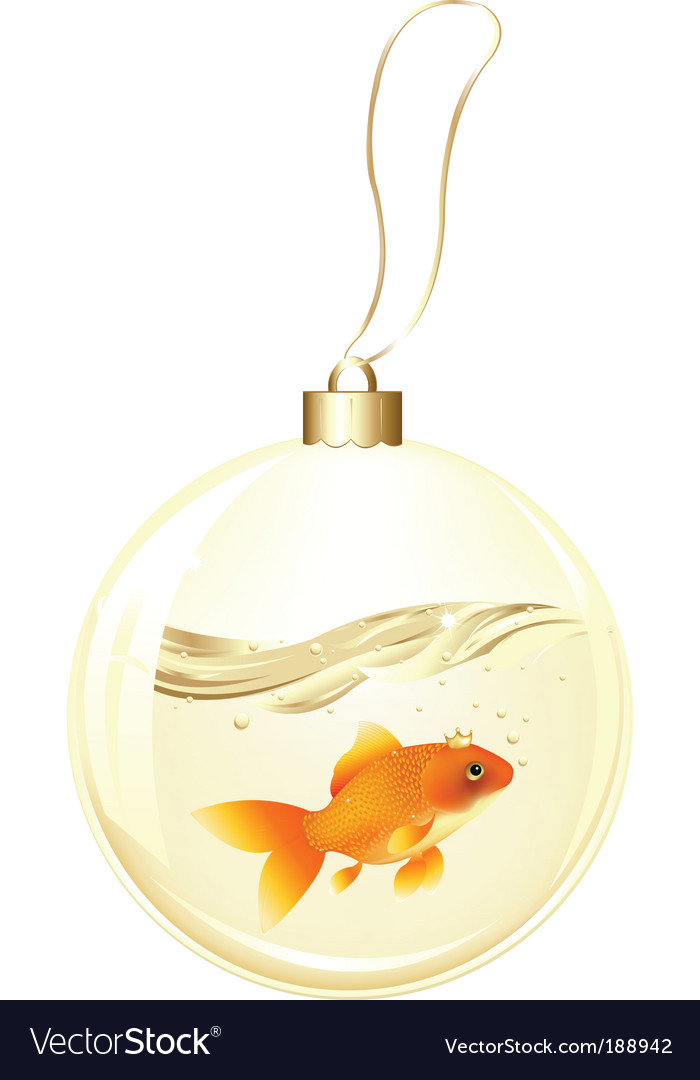 Golden ball with goldfish vector | Price: 1 Credit (USD $1)