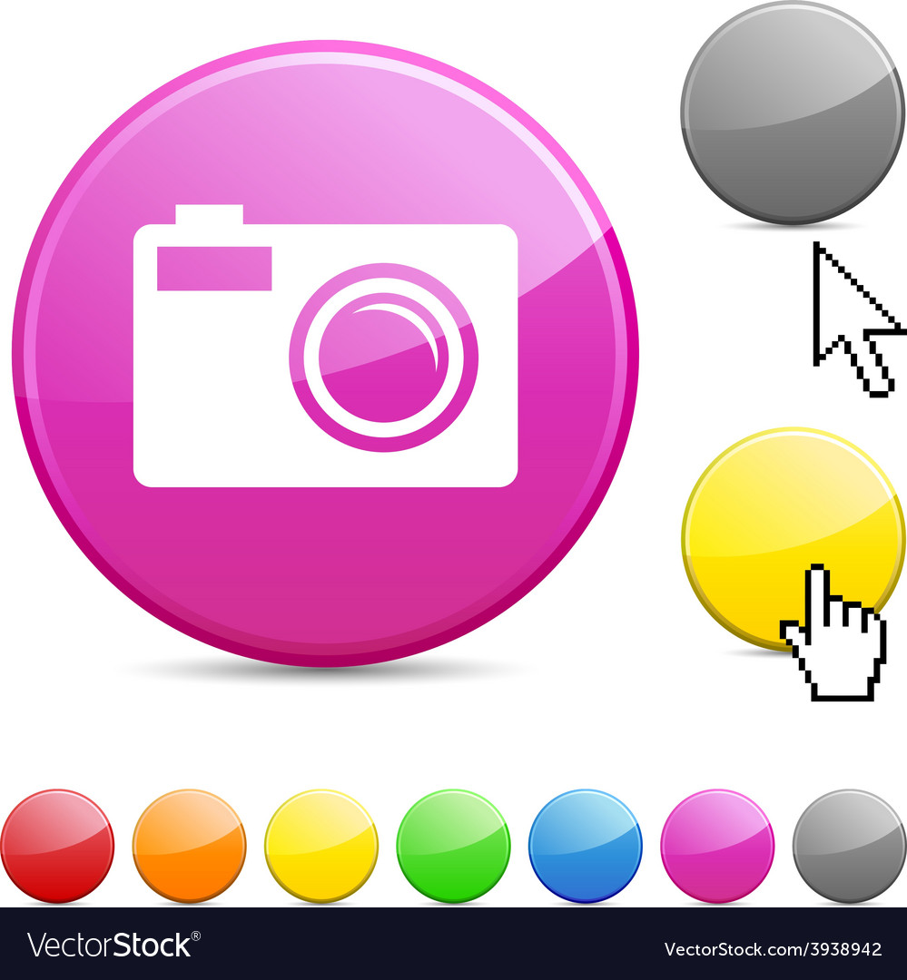 Photo glossy button vector | Price: 1 Credit (USD $1)