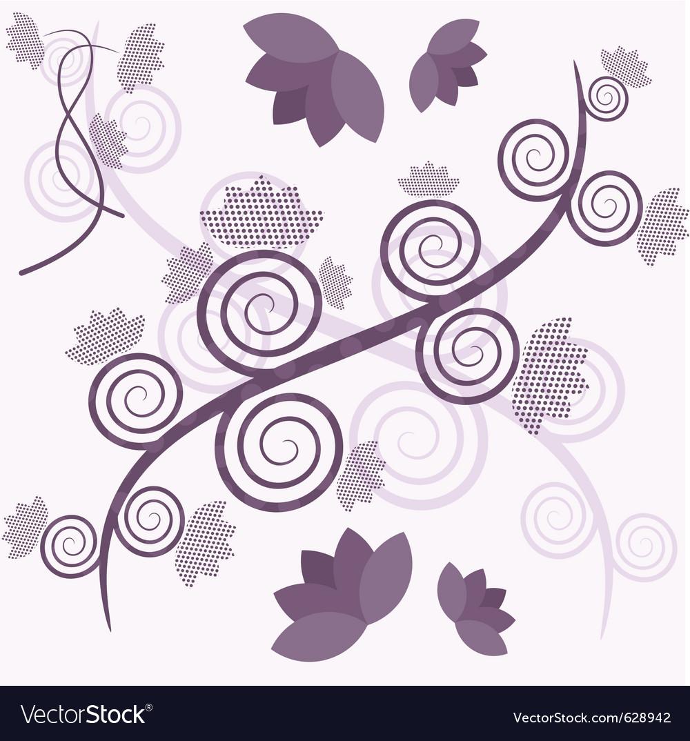 Purple tree vector | Price: 1 Credit (USD $1)