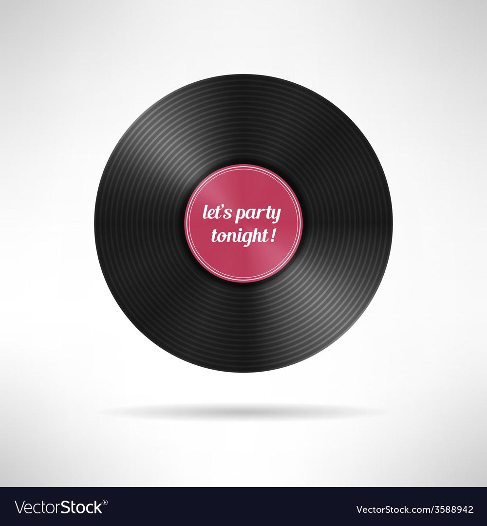 Realistic vinyl disc record vintage music vector | Price: 1 Credit (USD $1)