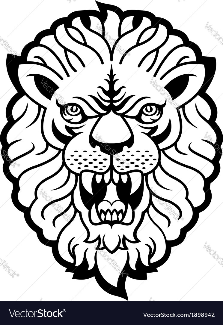 Roaring lion vector | Price: 1 Credit (USD $1)