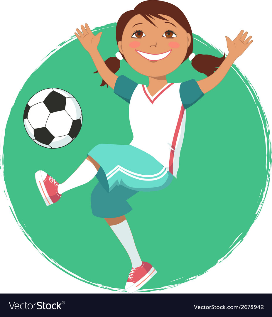 Soccer girl vector | Price: 1 Credit (USD $1)